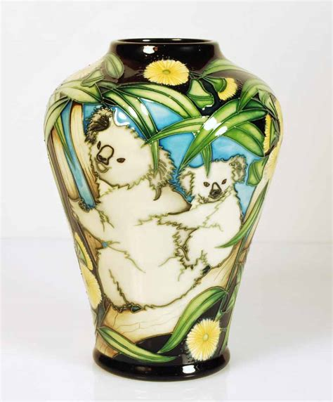 Moorcroft Vase Prices by A Moorcroft Pottery Koalas Vase Antiques Decorative