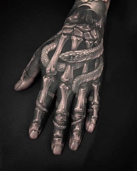 skull hand tattoo designs arm skeleton snake best ideas gallery