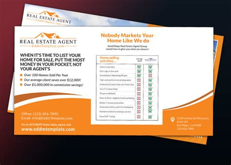 Direct Mail Eddm Postcard Template For Kw Preferred Realtor Real Estate Mailer Templates