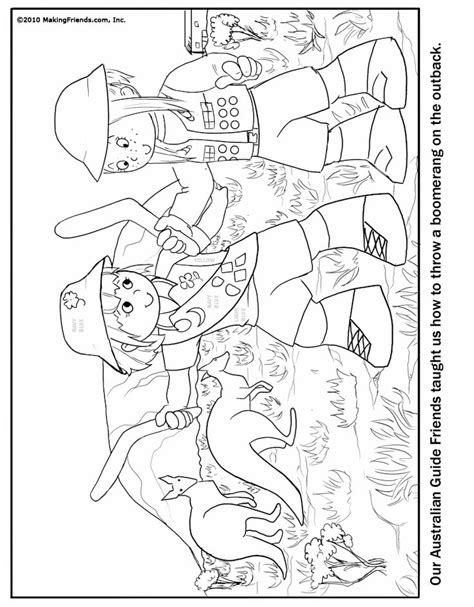Guide Coloring Pages Australian Girl Guide Coloring Page