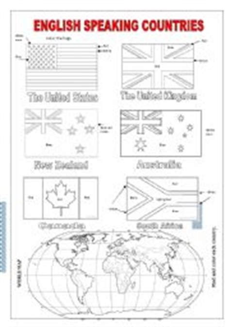 speaking countries flags coloring pages teaching worksheets speaking countries