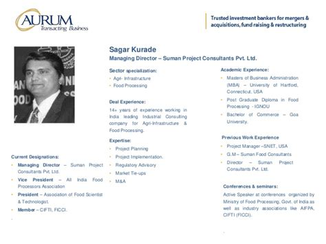 Post Mba Equity Senior Associate Vp Selby by Aurum Equity Partners Llp Statement Of Credentials