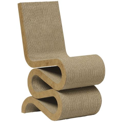 Frank Gehry Furniture by Wiggle Frank Gehry S Wiggle Chair Masterpiece Cardboard