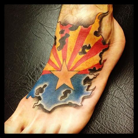 arizona flag tattoo arizona flag by goeke yelp