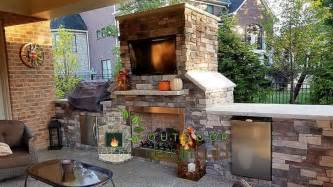 outdoor fireplace and grill outdoor design build in cincinnati