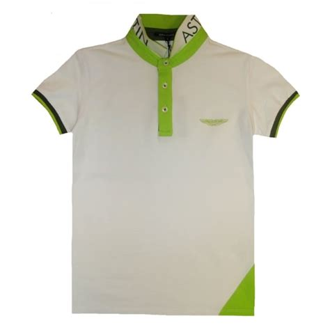 lime green aston martin aston martin boys white and lime green polo top