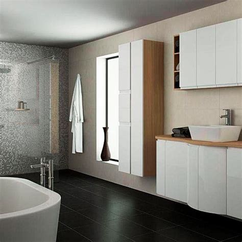 Integrated Handle High Gloss Range From B Q Small Bathroom Design Ideas Housetohome Co Uk