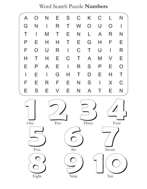 number words coloring page word search puzzle numbers download free word search