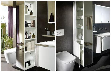 Séparer WC et lavabo avec une armoire colonne I Styles de bain
