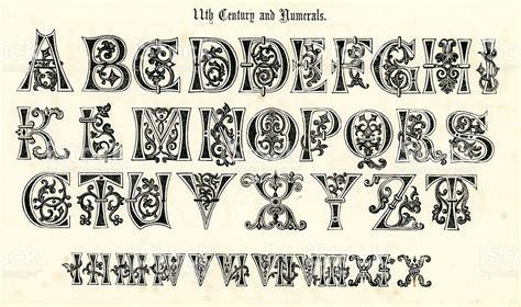 Renaissance Letter Of Credit 11 232 Me Si 232 Cle Alphabet M 233 Di 233 Val Et Chiffres Stock Vecteur Libres De Droits 183765308 Istock