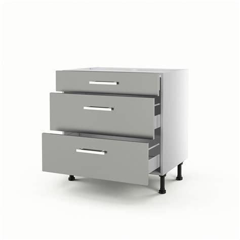 meuble de cuisine bas gris 3 tiroirs d 233 lice h 70 x l 80 x