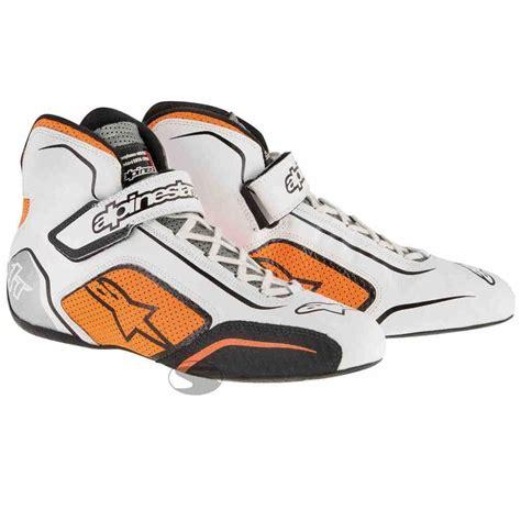Alpinestar Boots Orange alpinestars tech 1 t race boots in white orange buy
