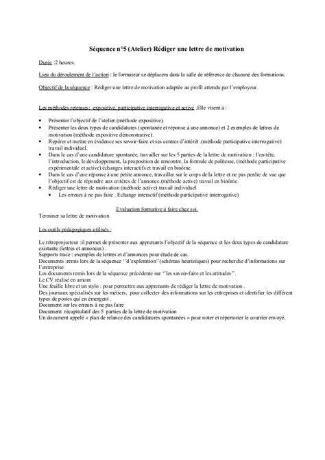 Comment Créer Un Cv by R 233 Diger Une Lettre De Motivation Employment Application
