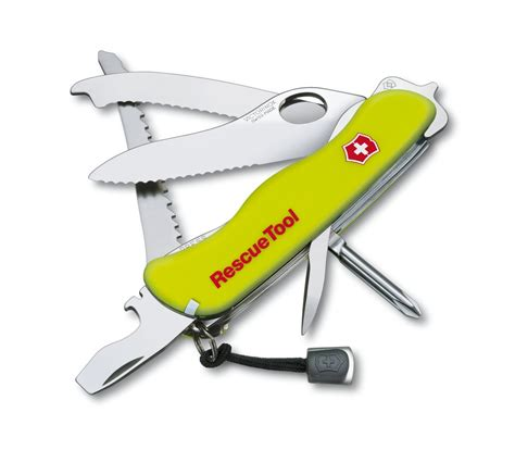 swiss army rescue tool victorinox rescuetool in phosphorescent yellow 0 8623 mwn