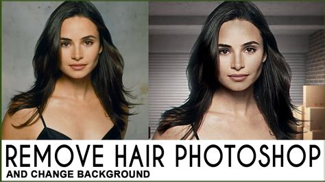 photoshop cs5 tutorial remove background hair hair removal and background change photoshop tutorial 7 0