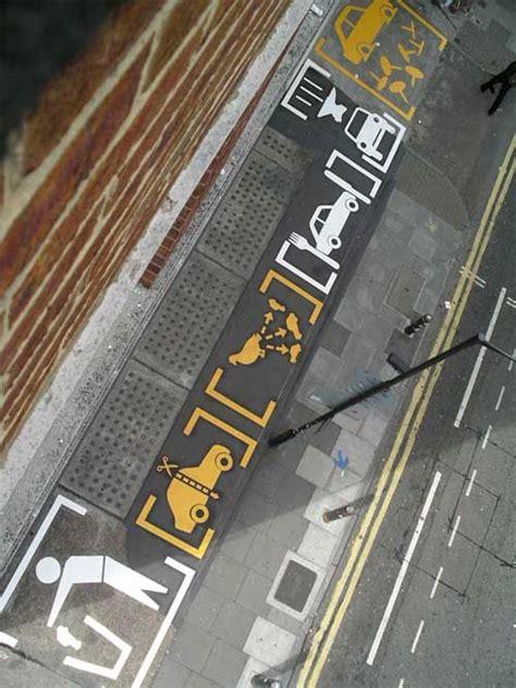 vinilos la plata calle 7 big floor graphics on the car park c i t y s p a c e s