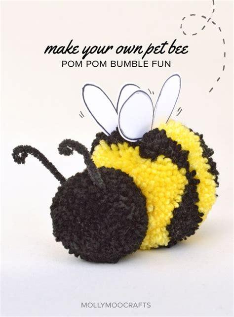 honey bee craft for pom pom craft how to make a pom pom bee pets for