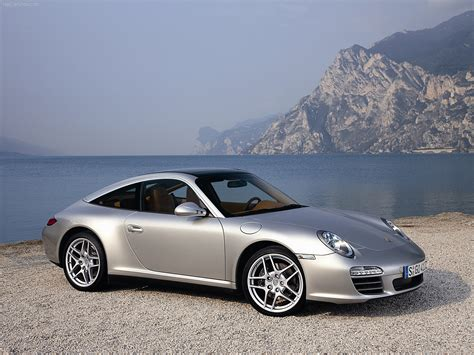 2009 Silver Porsche 911 Targa 4 Wallpapers