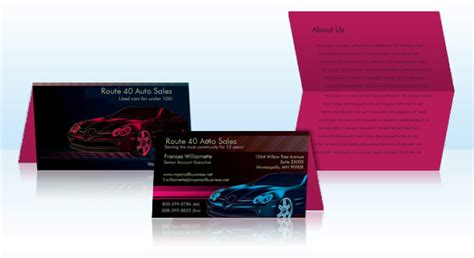 brochure templates to match vistaprint business cards folded business cards vistaprint