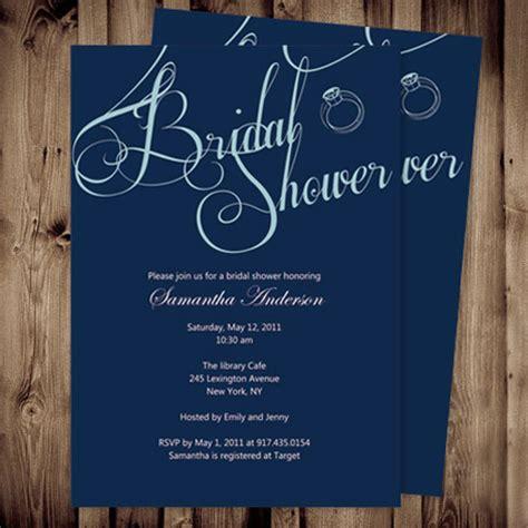 Cheap Simple Blue Shower Invites Bridal Online Ewbs021 As Low As 0 94 Simple Bridal Shower Invitations Templates