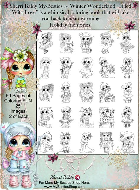 sherri baldy my besties magical winter coloring book books coloring books signed copies by the artist sherri baldy