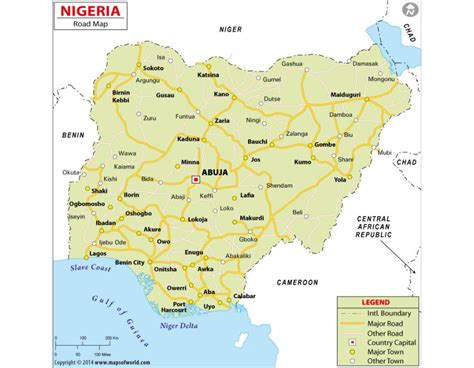 printed road maps buy printed nigeria road map