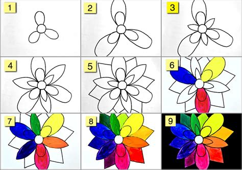 Creative Home Decoration by The Color Wheel Like A Flower