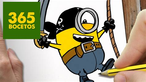 imagenes de los minions kawaii como dibujar minion pirata kawaii paso a paso dibujos