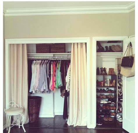 Install Moulding Remove Doors And Use Curtains Remove Closet Doors