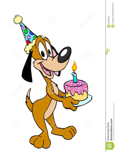 Happy Birthday Clip With Dogs Free by Happy Birthday Stock Illustration Image 42202324