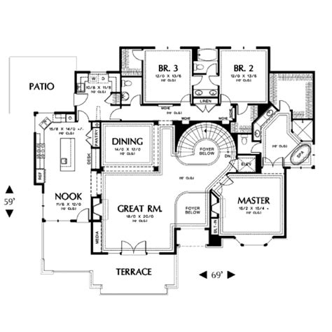 4 bedroom modern house plans contemporary style house plan 4 beds 3 50 baths 3317 sq