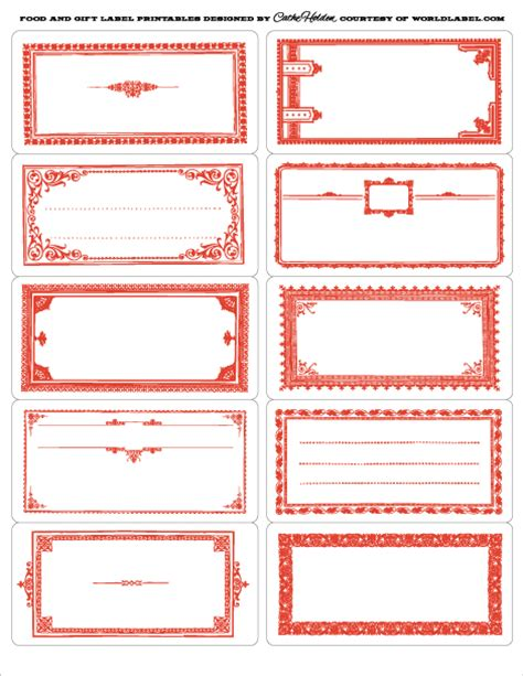 free template for labels for cards western 7 best images of food label printables