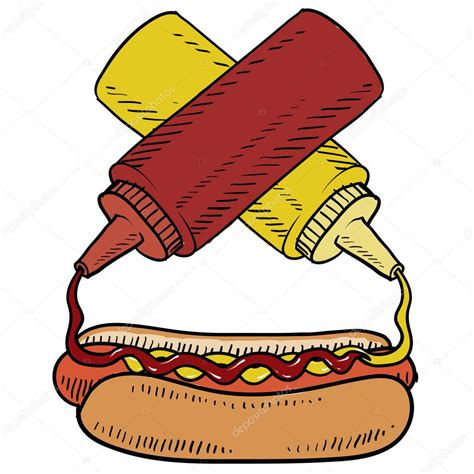 imagenes de un hot dog animado dibujo vector perro caliente vector de stock 13894888