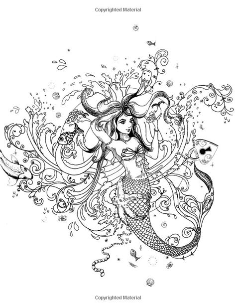 libro inky ocean creative colouring 10 images about coloring pages mermaids on coloring coloring books and colouring