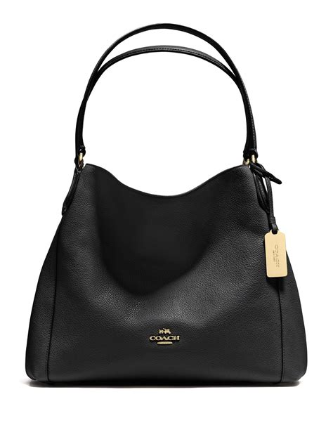 Coach Pebbled Leather Bag by Lyst Coach Edie Pebbled Leather Shoulder Bag In Black
