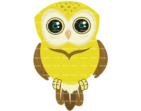 owl item items similar to yellow owl clip art digital clipart