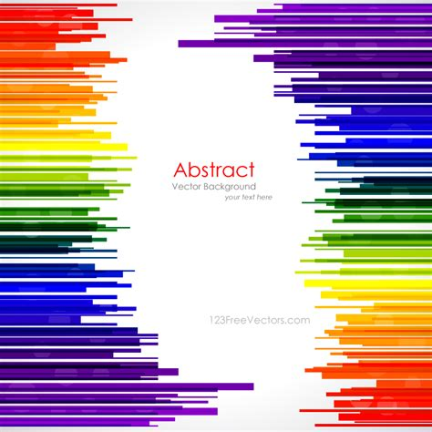 template graphics abstract rainbow stripes background template by
