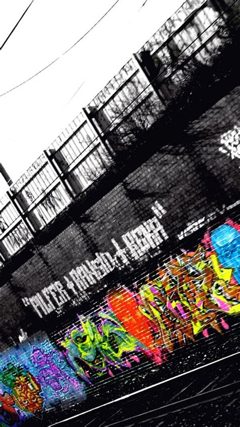 graffiti iphone wallpaper hd beside the railway graffiti iphone 5 wallpapers top
