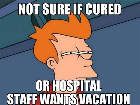 Funny Hospital Memes - i was sent home from hospital yesterday so i could spend christmas at home meme guy
