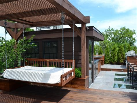 outdoor daybed swing plans photos hgtv