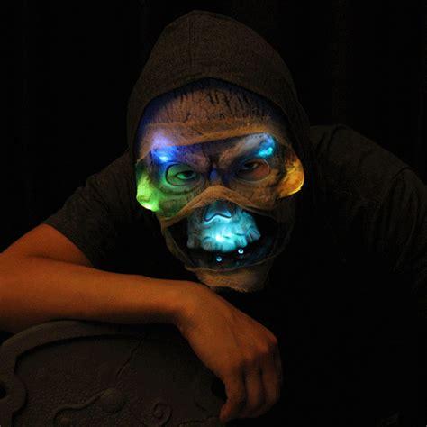 Masker Led k 248 b led skull mask skull mask