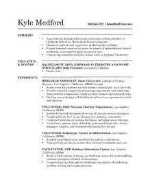 Research Experience Resume by Research Assistant Resume Exle Sle