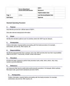 Operational Guidelines Template procedure template 5 free word documents free premium templates