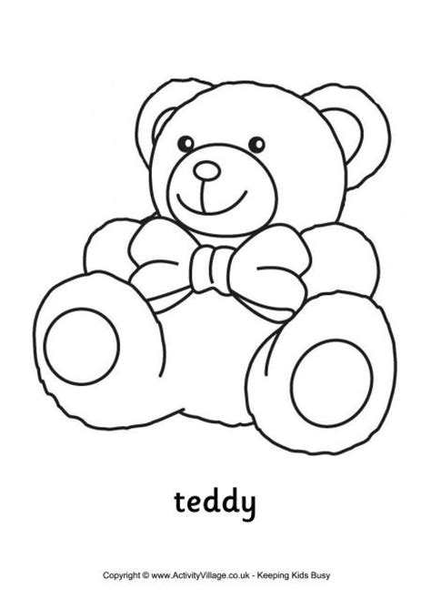 coloring pages of baby toys teddy colouring page 2