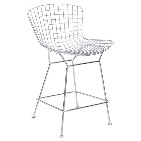 wire bar stools wire chrome modern counter stool eurway furniture