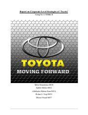 Mba In Umak by Toyota Marketing Plan Executive Summary Toyota