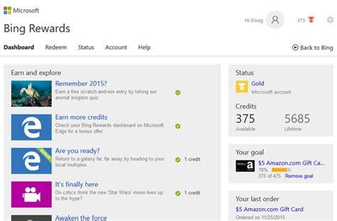 Bing Rewards Amazon Gift Card - bing rewards dashboard home design idea