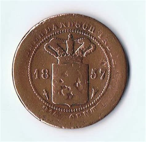 Koin One Cent Tahun 1968 koin kuno langka coin nederlandsch 2 5 cent tahun 1857