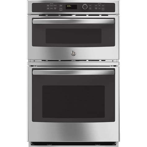 ge built in microwave ge 27 in electric wall oven with built in microwave in stainless steel jk3800shss the home depot