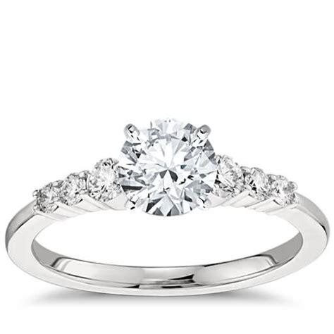 engagement ring in platinum 1 4 ct tw